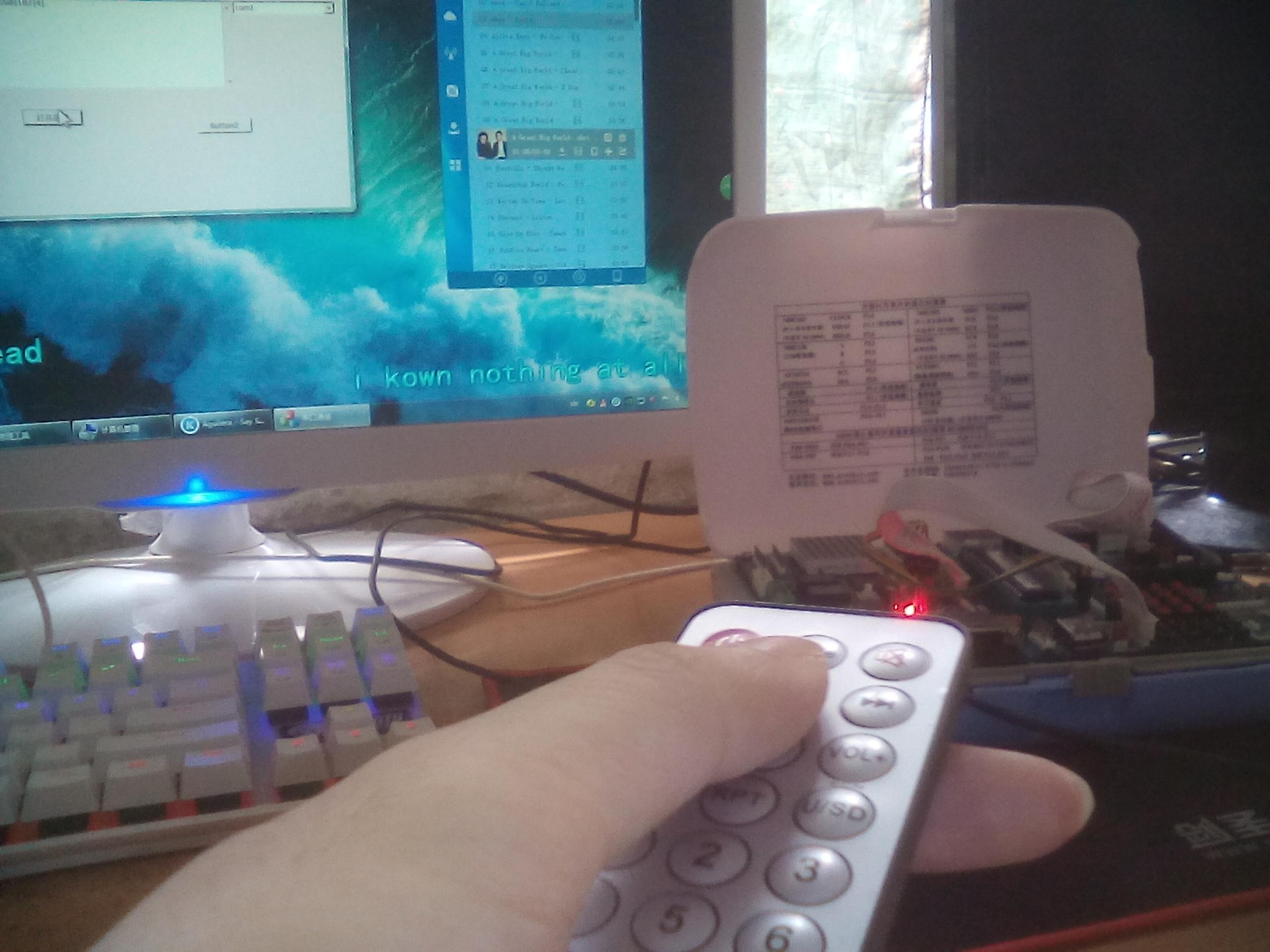 单片机红外线遥控器发射串口通信控制电脑